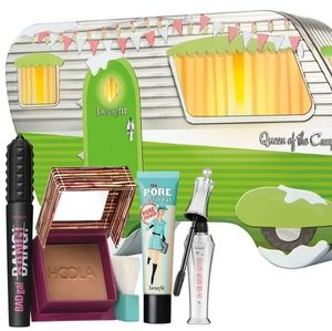 Benefit camper tin with hoola primer mascara gel